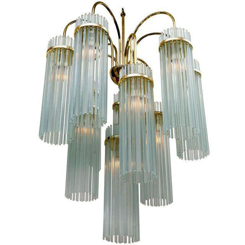 Sciolari for Lightolier Glass Rod Chandelier