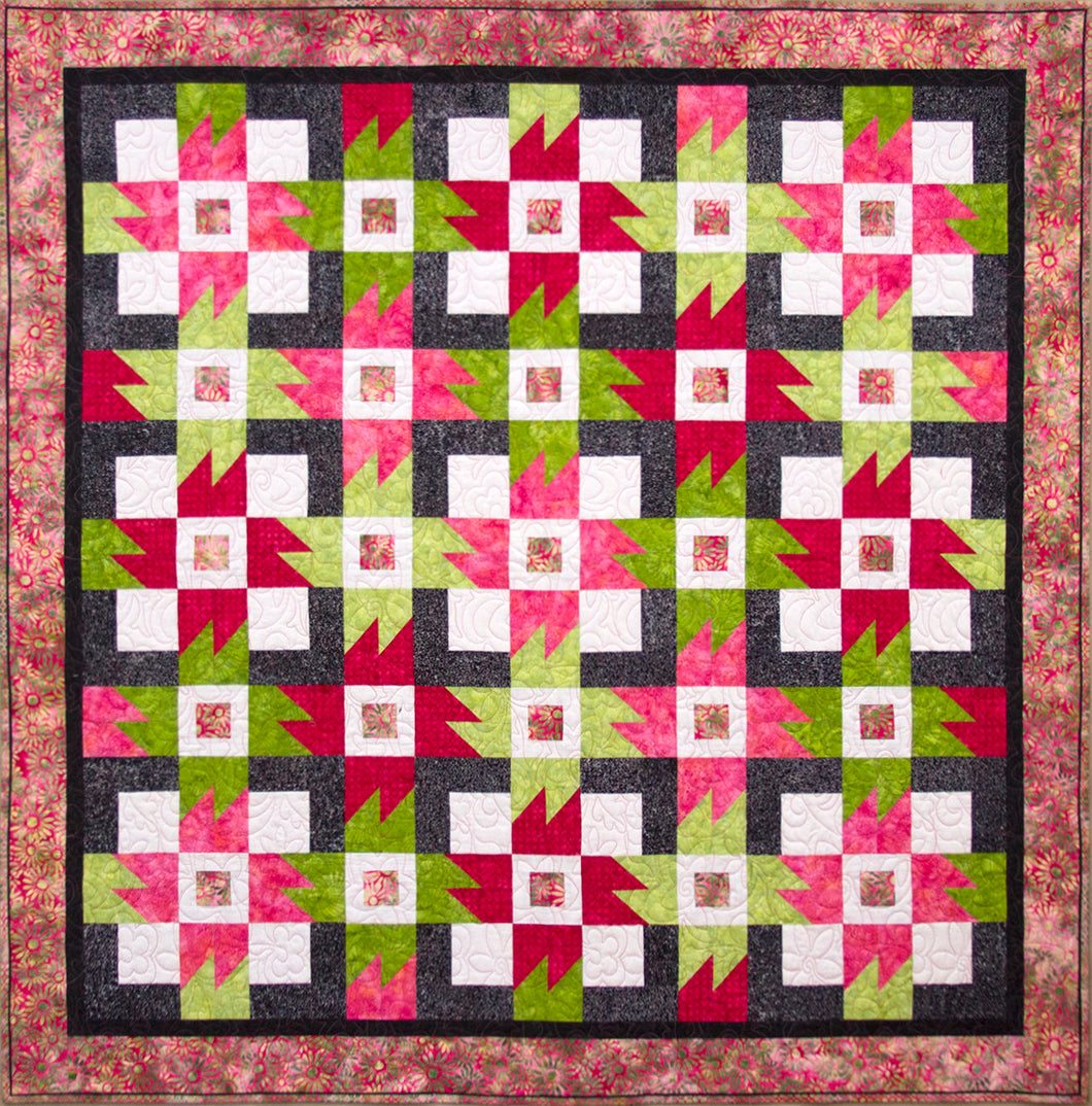 Garden Party Cover Quilt Sample