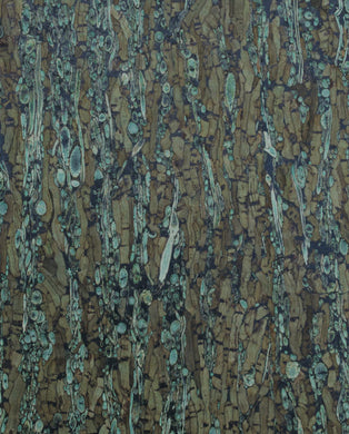 Natural Cork Fabric - Cork & Fennel Green