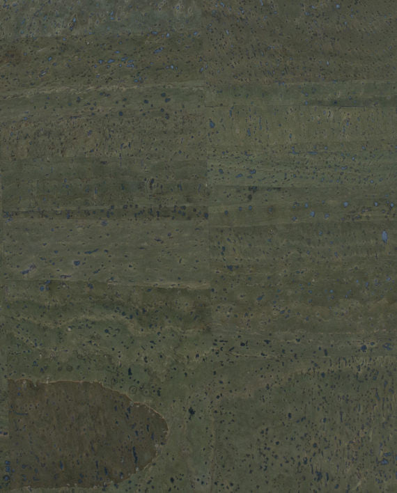 Natural Cork Fabric - Dark Green