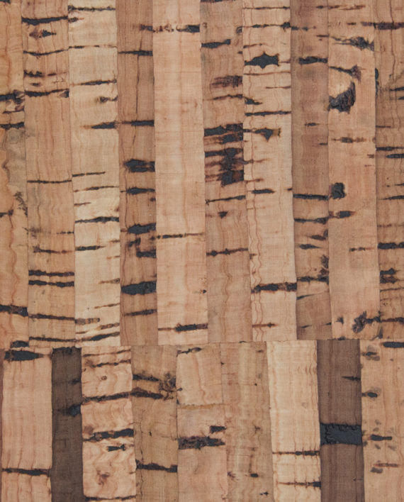 Natural Cork Fabric - Stripes