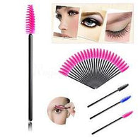 50 x Pink Mascara Wand Brushes Makeup Accessories...FREE SHIPPING..