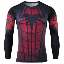 Men's Spider Man Sports Compression Top...FREE SHIPPING... Fitness Fashion