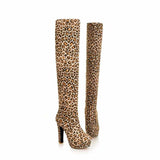 QUTAA Women's Designer Suede Sexy Fashion Over the Knee Boots...FREE SHIPPING..