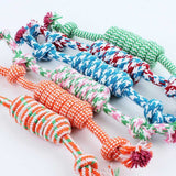 Dog Accessories - Puppy Dog Cotton Braided Bone Rope Chew Toy...FREE SHIPPING...