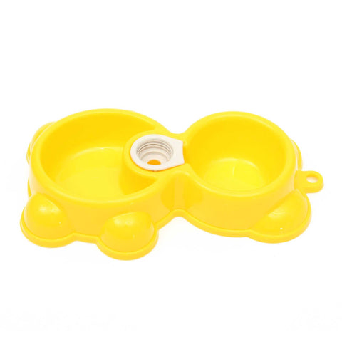 Bear Shape Pet Double Bowl Dog Water Food Dispenser...FREE SHIPPING...