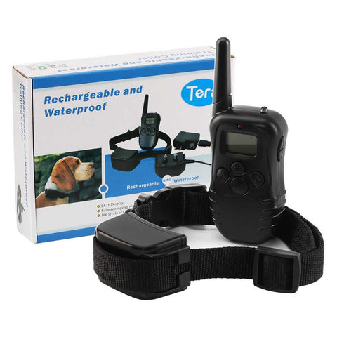 Rechargeable 100 Level Dog Training Collar 300meters Remote Shock Control...FREE SHIPPING...