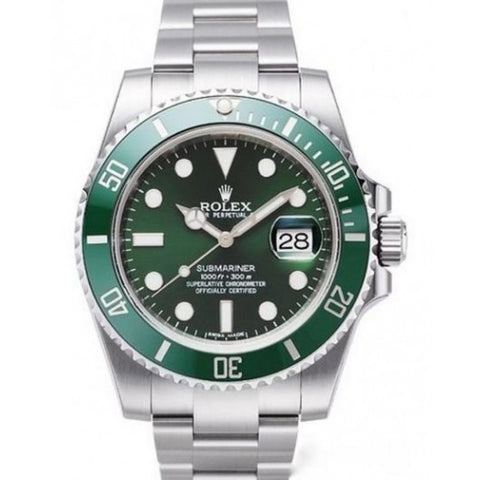 Fake Rolex Hulk - Luxury Designer Green Submariner Men's Watch ...#990