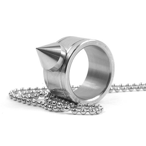 Steel Self Defence Ring Necklace...FREE SHIPPING... Knuckle Duster