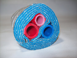 "Insulated Pipe 5 Wrap (2) 1"" Oxygen Barrier and (1) 3/4"" Non-Barrier-No Tile"