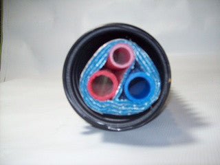 Insulated Pipe 3 Wrap, (2) 1 1/4' Non Oxygen Barrier (1) 3/4' Non Oxygen Barrier lines