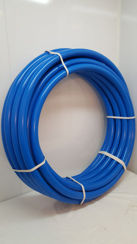 "1 1/4"" 100'  Non-Oxygen Barrier Blue PEX tubing for heating and plumbing"