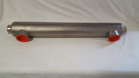 155,000 BTU Stainless Steel Tube and Shell Heat Exchanger for Pool/Spas ss