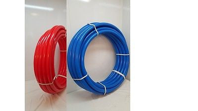 "1/2"" 600' Coil 300' RED & 300' BLUE Certified Non-Barrier PEX Tubing Htg/Plbg"