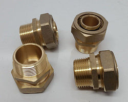 "1"" MPT Male Pipe Thread Pex-al-Pex Compression Fitting Quantity (4)"