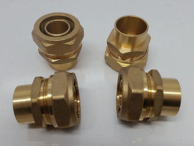 "Pex-al-Pex 1"" Female Sweat Compression Fitting Quantity (4)"