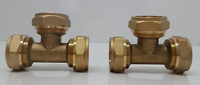 "1"" Tee Pex-al-Pex Compression Fitting (2)"