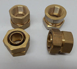 "1"" FPT Female Pipe Thread Pex-al-Pex Compression Fitting Quantity (4)"