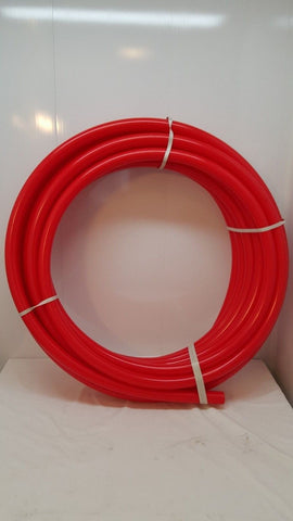 "1 1/2"" 100' Oxygen Barrier Red PEX tubing for heating and plumbing"