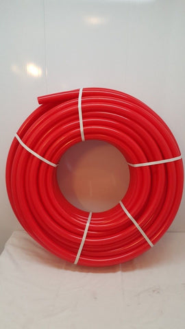 "1 1/2""  500'  Non Oxygen Barrier Red PEX tubing for heating and plumbing"