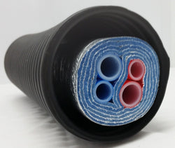 "225 Ft of Commercial Grade EZ Lay 5 Wrap Insulated (2)1"" (2) 3/4"" OB PEX Tubing"