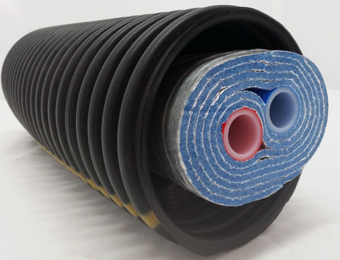 "275 Ft of Commercial Grade EZ Lay Five Wrap Insulated 3/4"" OB PEX Tubing"