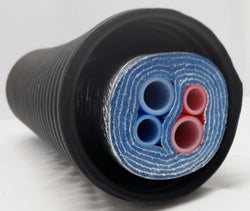 "60 Ft of Commercial Grade EZ Lay 5 Wrap Insulated (2)1"" (2) 3/4"" OB PEX Tubing"