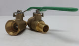 "1"" FPT Ball Valve x1"" Pex--Box of 4"