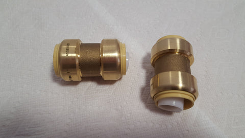 "1"" Coupling Push Fitting~~Bag of 5~LEAD FREE!"