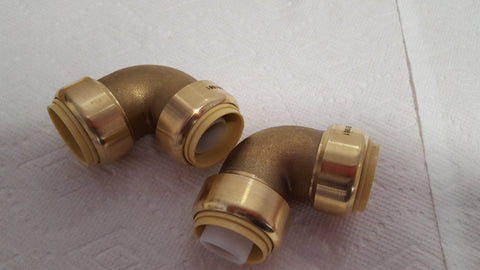 "1/2"" Push Fitting~~ Elbow Bag of 10 LEAD FREE!"
