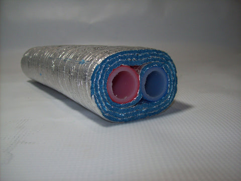 Insulated Pipe 3 Wrap, 1' Oxygen Barrier (2-1' lines) - No Tile