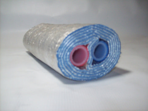 Insulated Pipe 5 Wrap 1' Oxygen Barrier (2-1' lines) - No Tile
