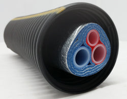 "Insulated Pipe 3 Wrap, (2) 1 1/4"" Oxygen Barrier (1) 1/2"" Non Oxygen Barrier lines"