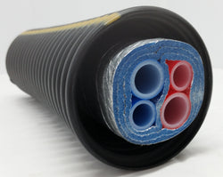 "Insulated Pipe 3 Wrap, (2) 1 1/4"" Oxygen Barrier (2) 3/4"" Oxygen Barrier lines"