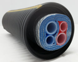 Insulated Pipe 3 Wrap, (2) 1' Oxygen Barrier (2) 3/4' Non Oxygen Barrier lines
