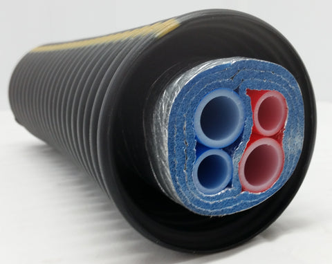 "Insulated Pipe 3 Wrap, 1' Rehau Non Barrier (4) 1"" lines"