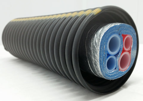 Insulated Pipe 3 Wrap, (2) 1' Non Oxygen Barrier and (2) 3/4' Non Oxygen Barrier lines