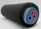 "Insulated Pipe  5 Wrap with (2) 1"" Oxygen Barrier and (1) 1/2"" Non Barrier lines"