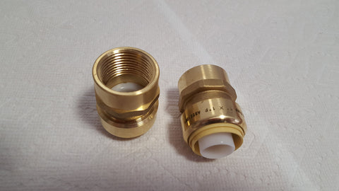 "1"" FPT (Female Pipe Thread) Push Fitting~~Bag of 10~LEAD FREE!"