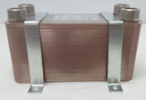 "90 Plate Water to Water Brazed Plate Heat Exchanger 1"" MPT Ports w/ Brackets"