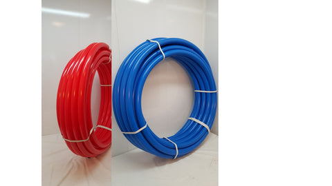 "1""- 200'--100' BLUE & 100' RED Certified Non-Barrier PEX for Heating/Plumbing"