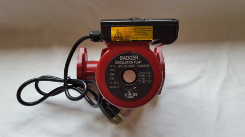 3 speed Circulating Pump with Cord 34 GPM to use with outdoor furnaces, hot water heat, solar