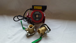 "3 speed Circulating Pump 34 GPM with Cord with (2) 1 1/4"" Flanged Ball Valves"
