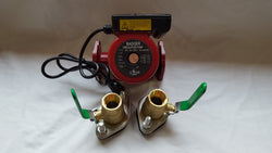 "3 speed Circulating Pump with Cord 34 GPM with (2) 3/4"" Flanged Ball Valves"