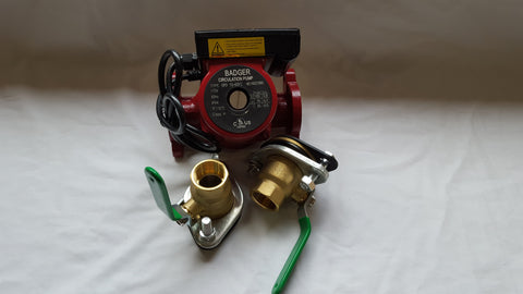 "3 speed Circulating Pump With Cord 20 GPM with (2) 3/4"" Flanged Ball Valves"