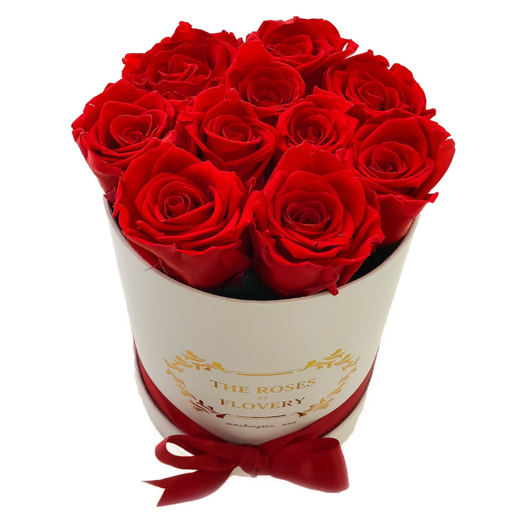 Small Signature Round Box Eternity Roses