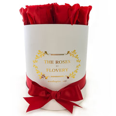 Small Signature Round Box Eternity Roses - Flovery
