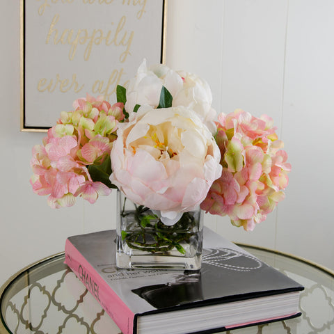 Finest Quality Silk Hydrangeas Large Peonies Arrangement