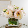 Large Light Pink Peonies Buds Square Arrangement