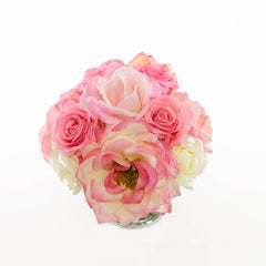 Real Touch Light Pink Orlane Rose Mixed Color Arrangement - Flovery